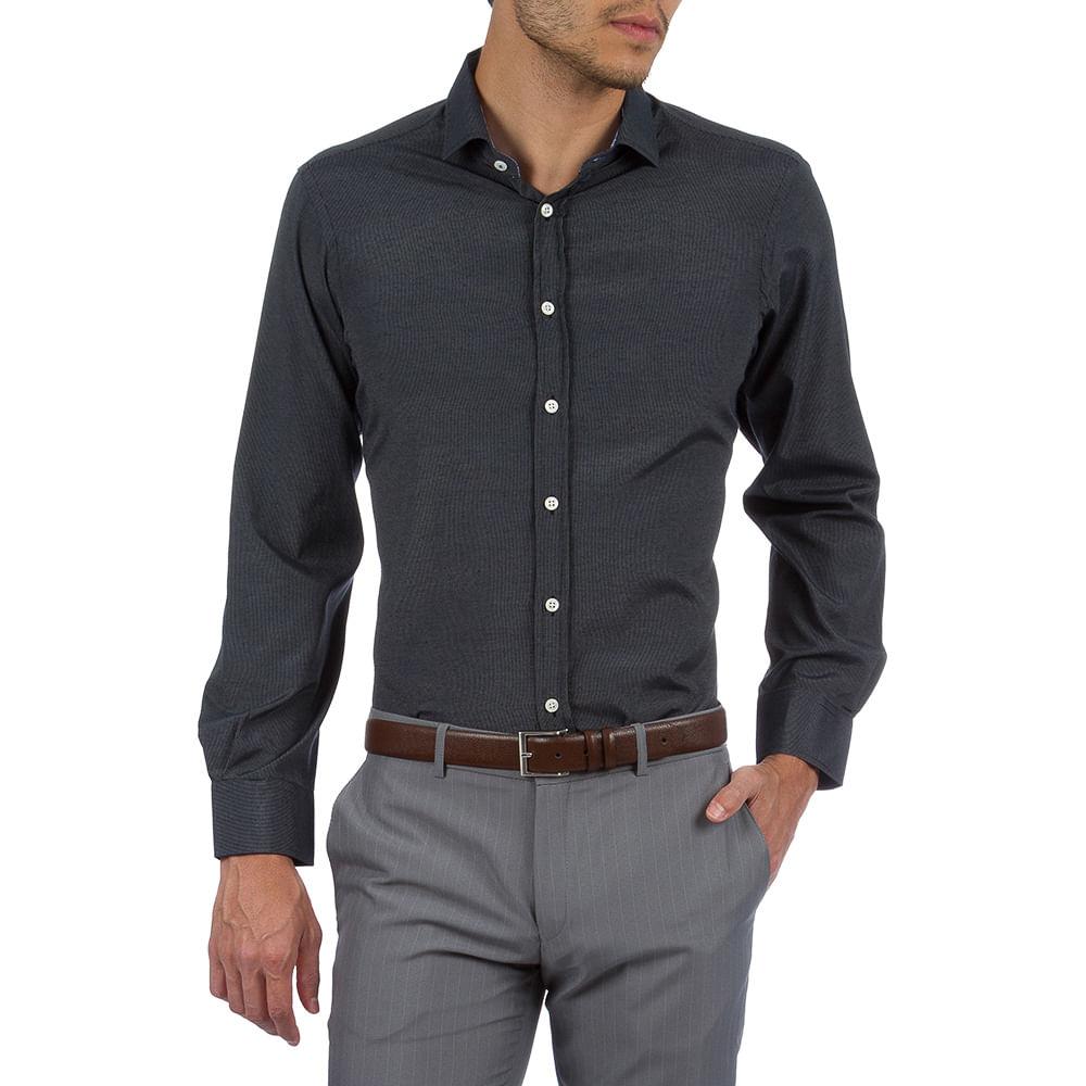 PRODUTO ADICIONADO A SACOLA. Camisa Social Masculina Preta Texturizada Upper 7a14ff33e1c5b