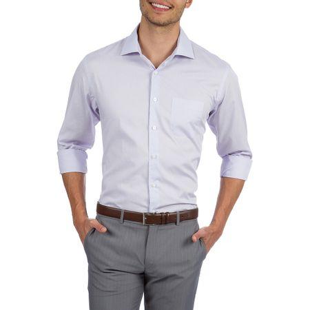 Camisa Social Masculina Upper Lilás Lisa