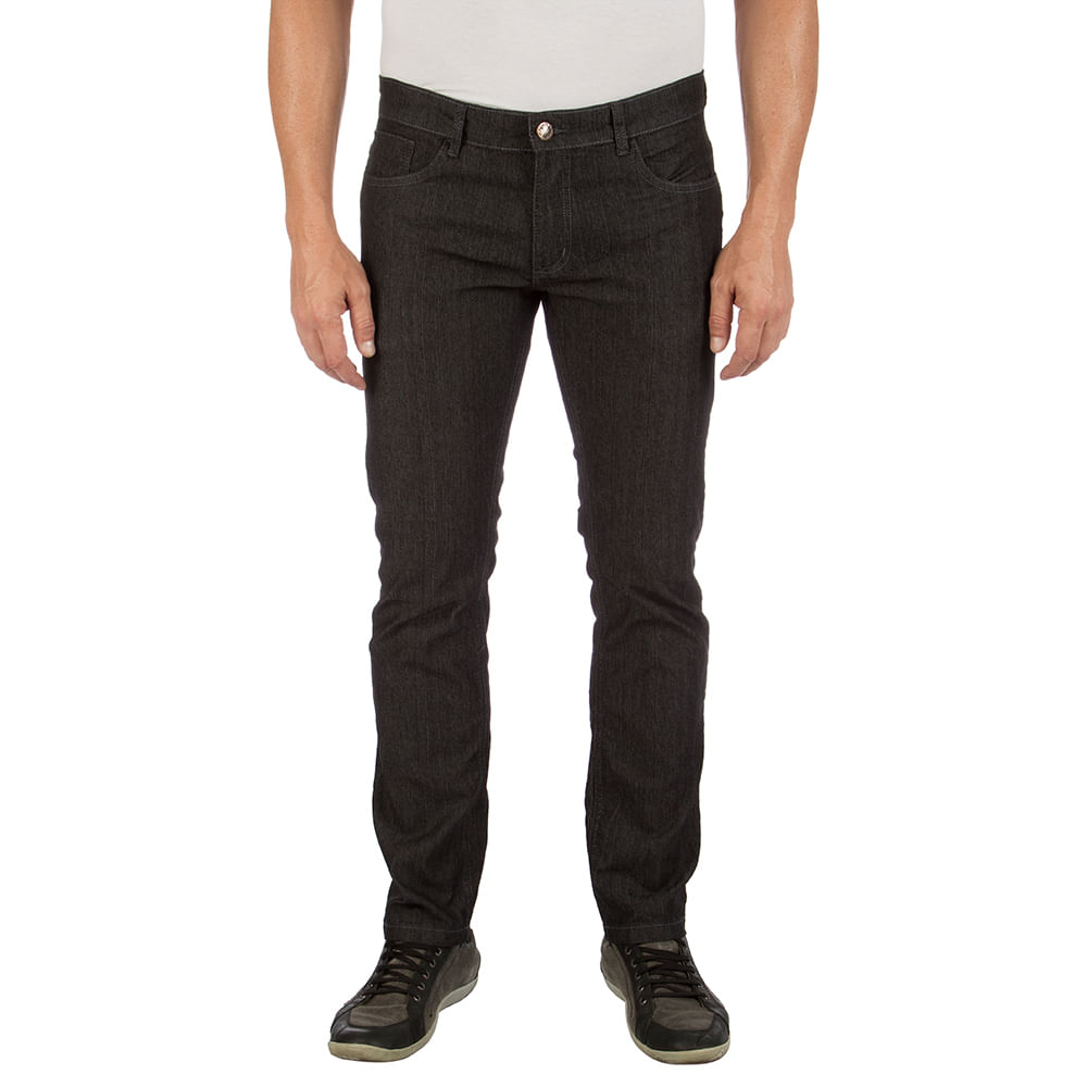 303d3b2e77562 Calça Jeans Masculina Preta com Elastano Upper - Camisaria Colombo
