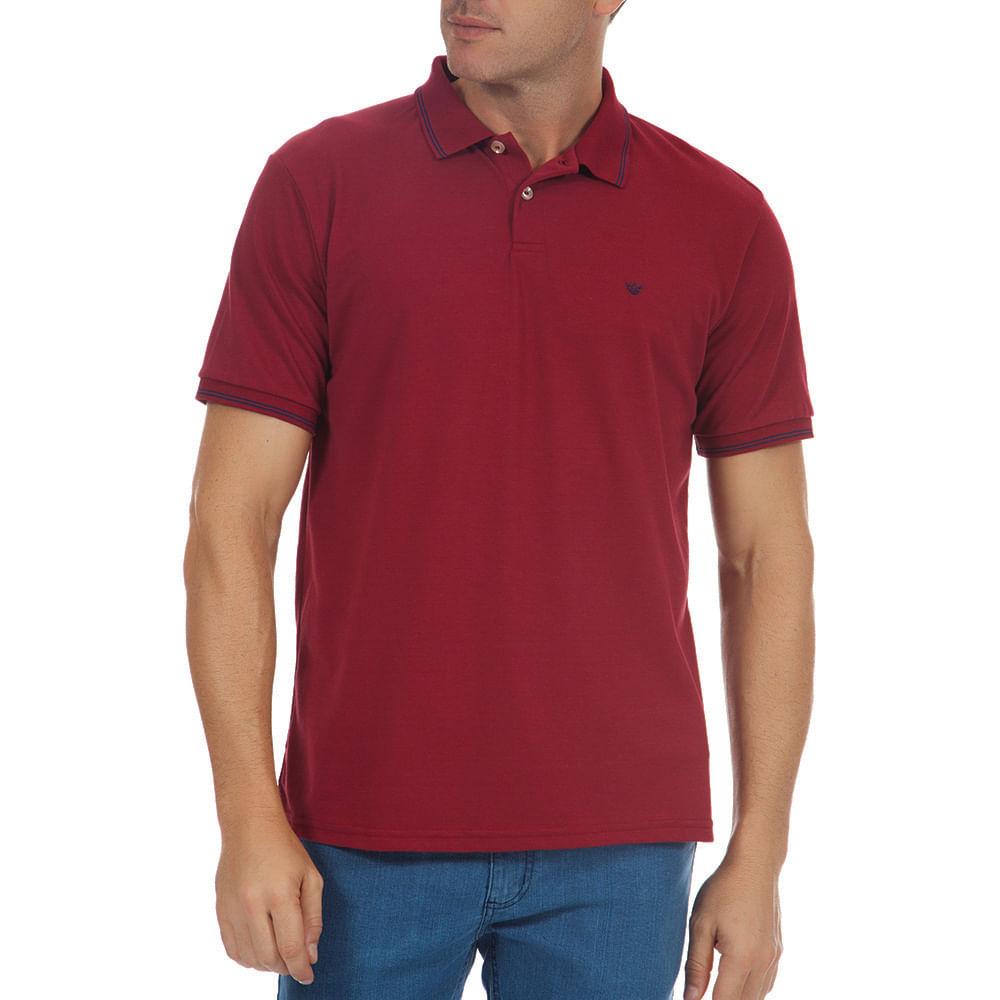 PRODUTO ADICIONADO A SACOLA. Camisa Polo Masculina Vinho Lisa bad10fc241d9a