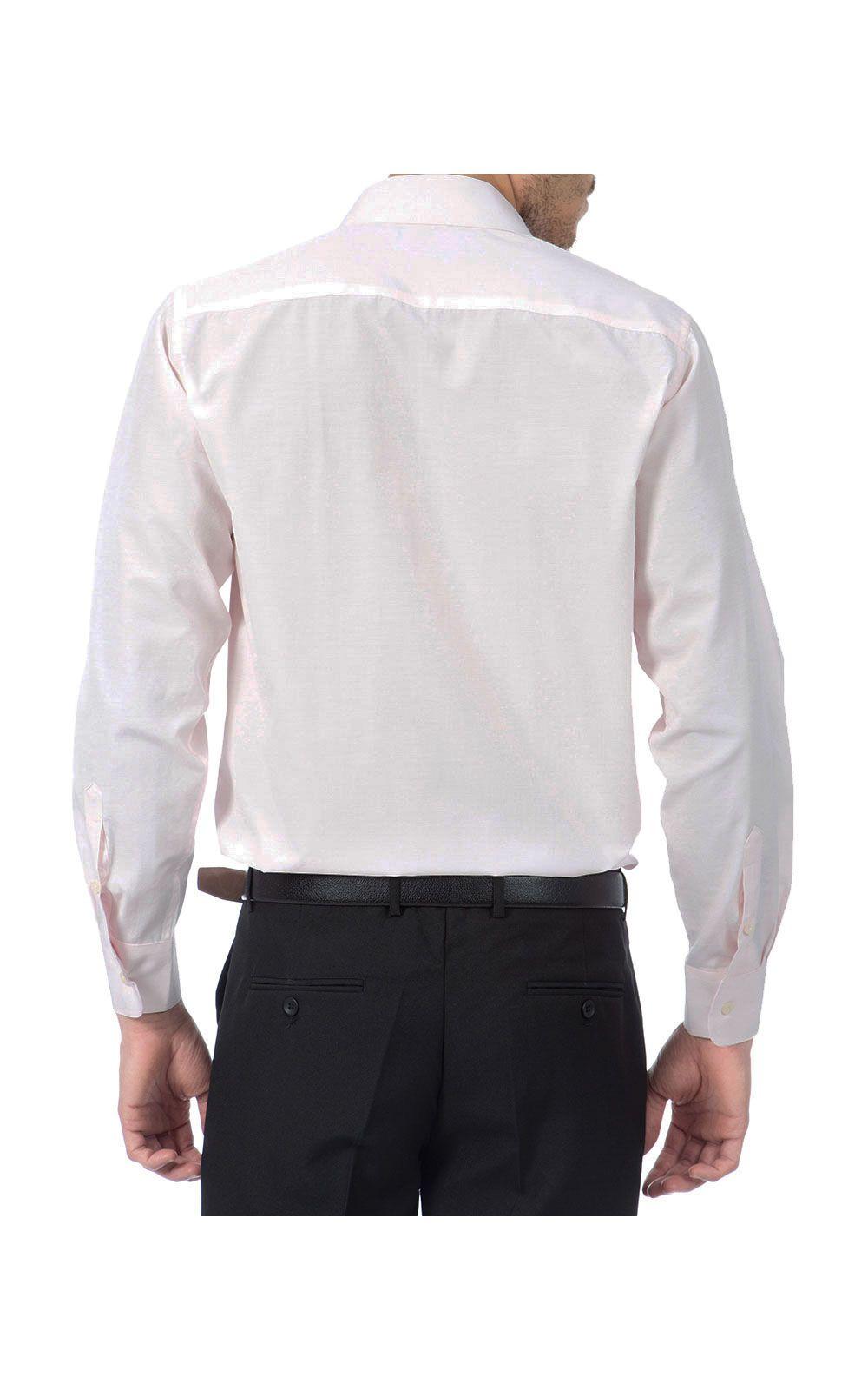 Foto 1 - Camisa Social Masculina Rosa Lisa