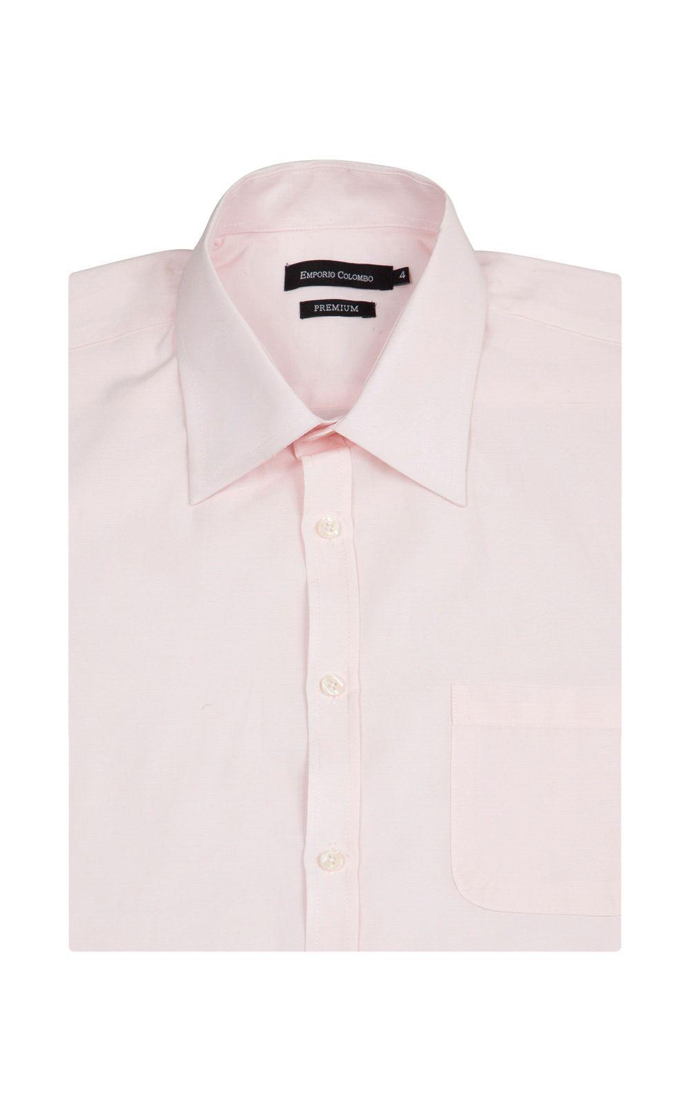 Foto 3 - Camisa Social Masculina Rosa Lisa