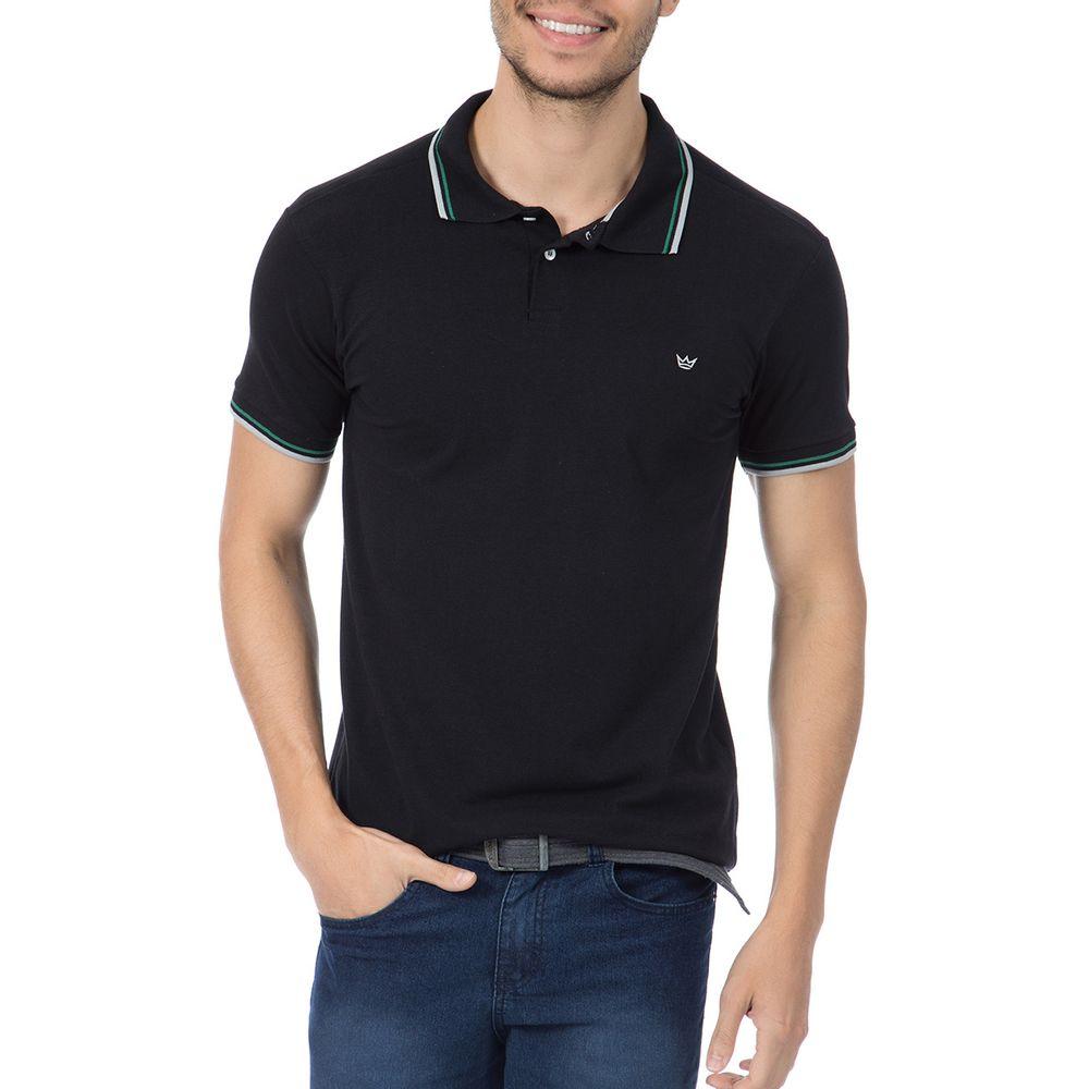 PRODUTO ADICIONADO A SACOLA. Camisa Polo Masculina Preta ... a9fd7a9e68167