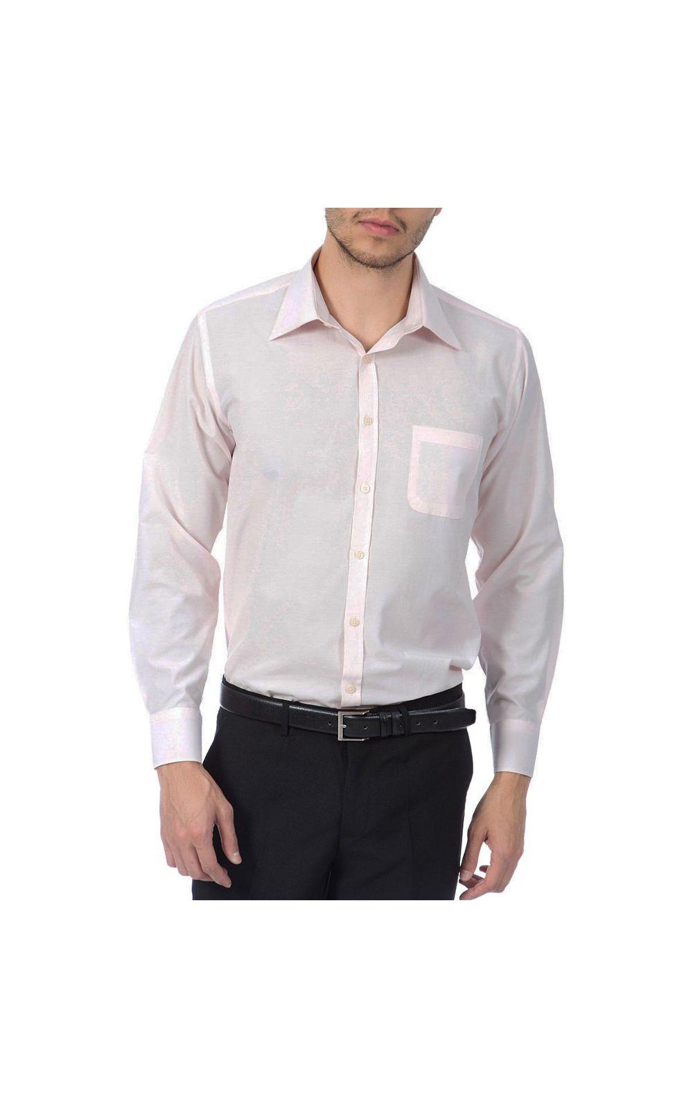 Foto 4 - Camisa Social Masculina Rosa Lisa