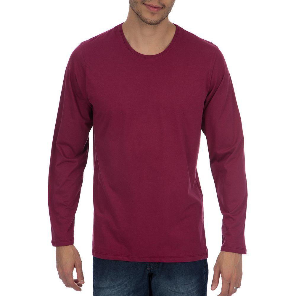 PRODUTO ADICIONADO A SACOLA. Camiseta Masculina Vinho Lisa 8bbec517eafce
