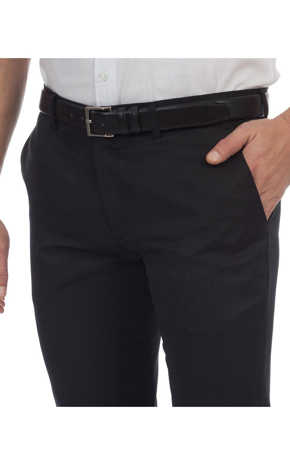 Foto 3 - Calça Social Masculina Preta Texturizada