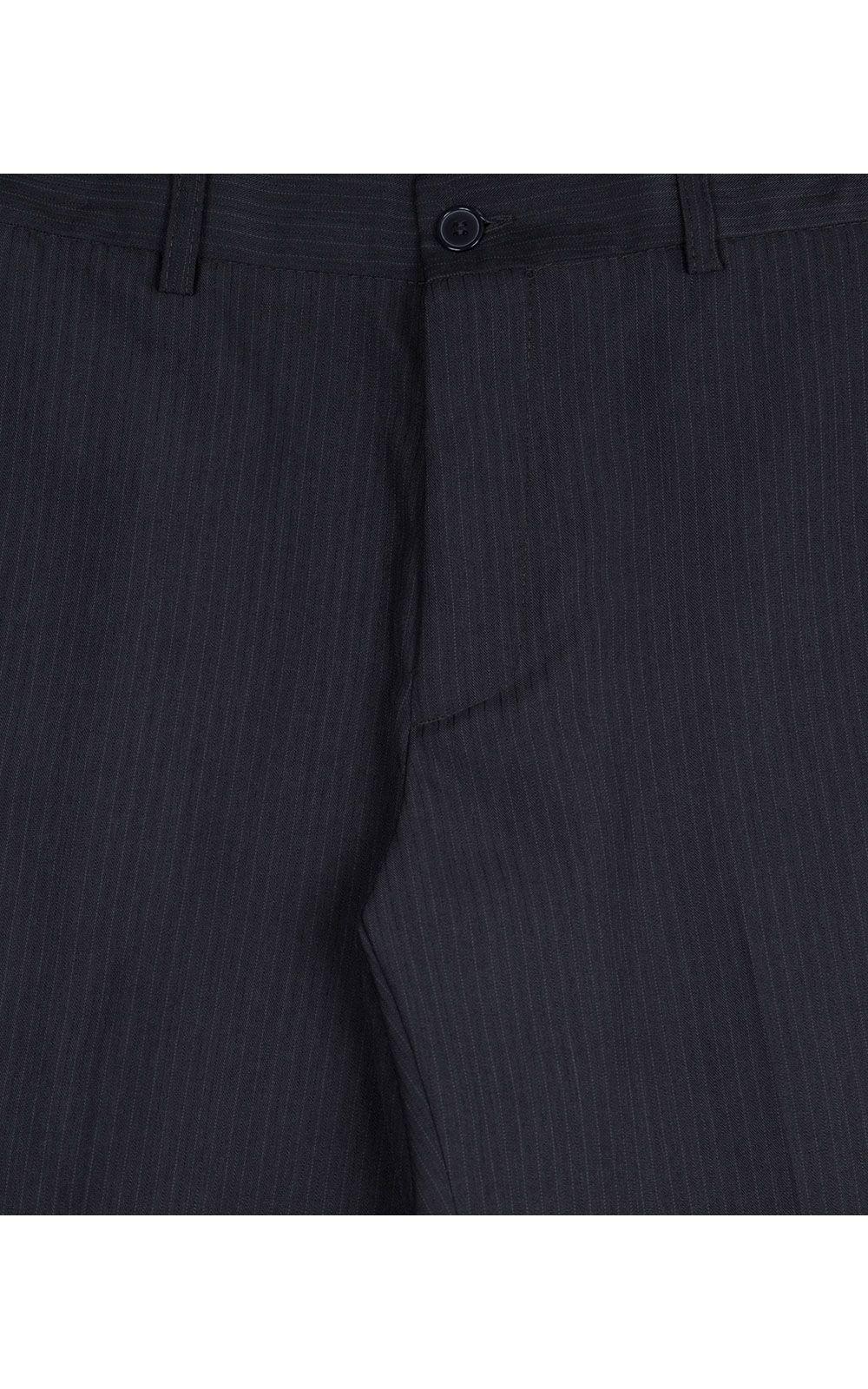 Foto 4 - Calça Social Masculina Azul Marinho Texturizada