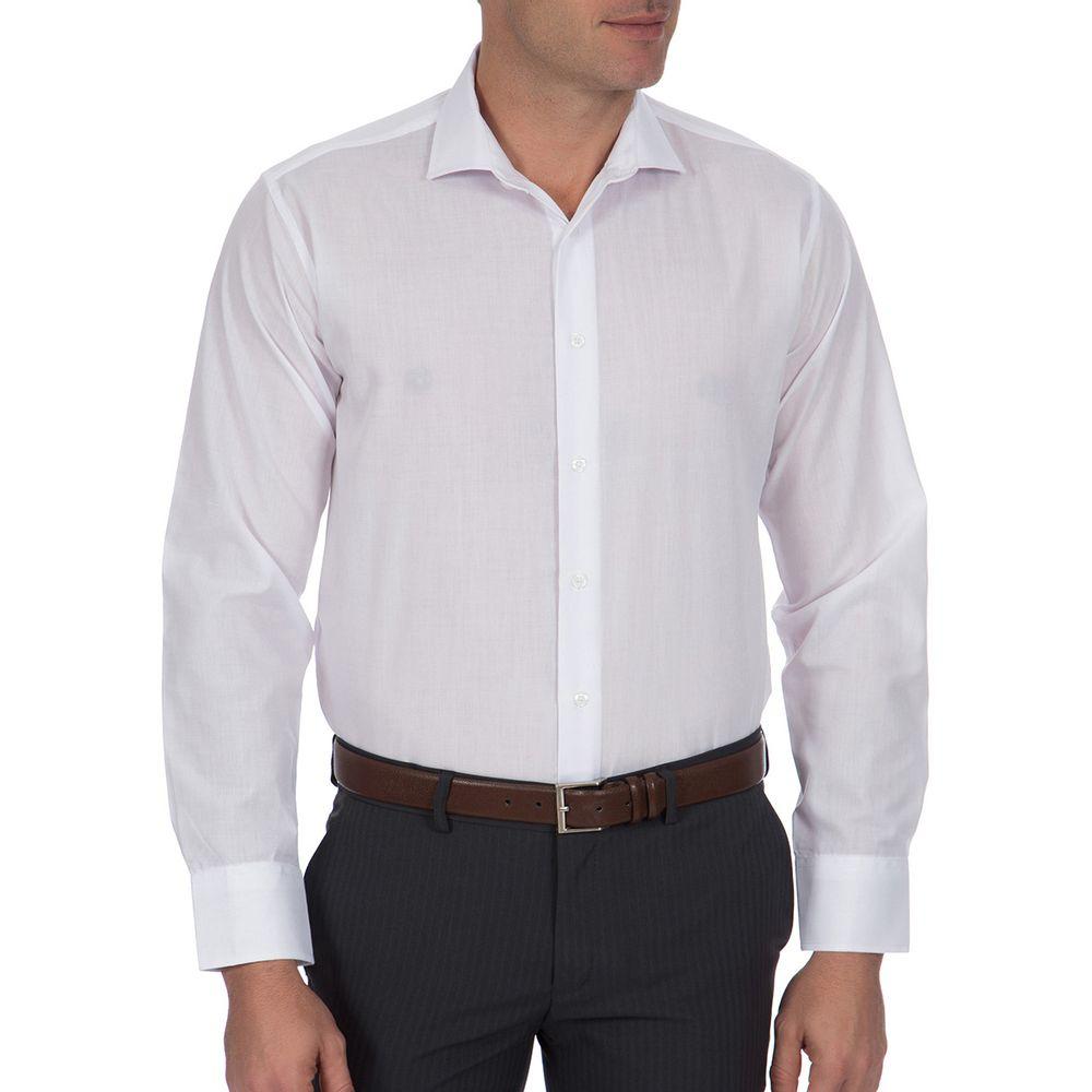 Camisa Social Masculina Branca Lisa - Camisaria Colombo cf34b0b67f5