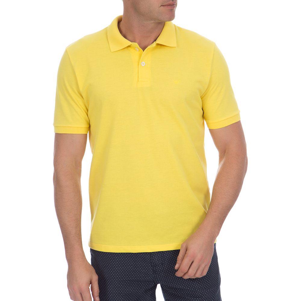 PRODUTO ADICIONADO A SACOLA. Camisa Polo Masculina Amarela Lisa 1fa8a0913de32