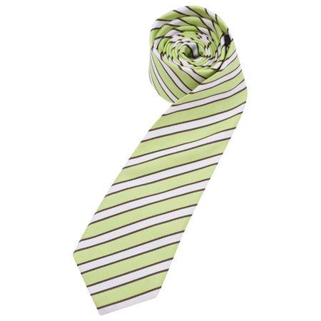 Gravata Masculina Verde Listrada