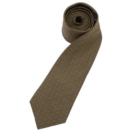 Gravata Masculina Verde Estampada