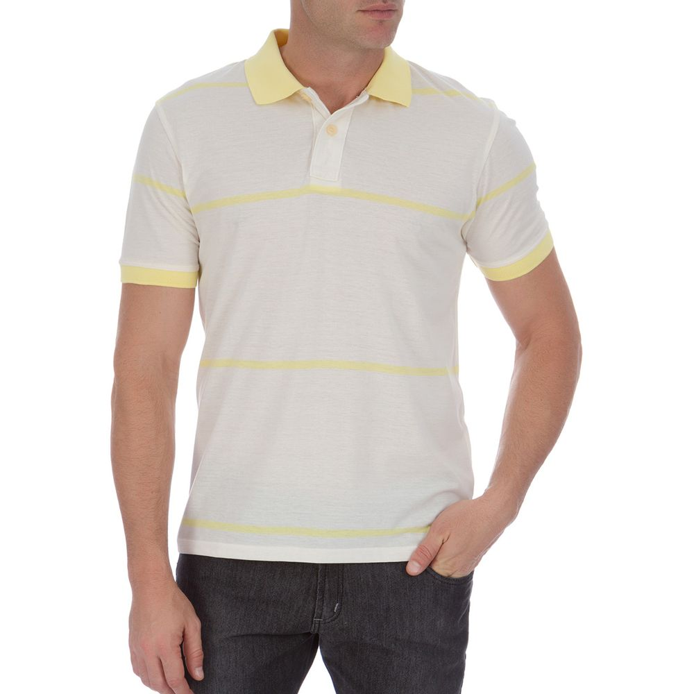 PRODUTO ADICIONADO A SACOLA. Camisa Polo Masculina Amarela Listrada 602b5a8525e02