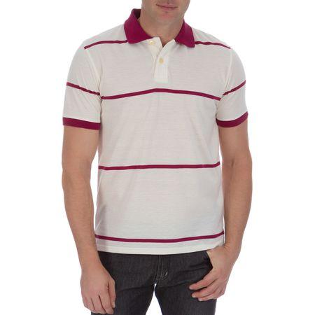 Camisa Polo Masculina Vinho Listrada