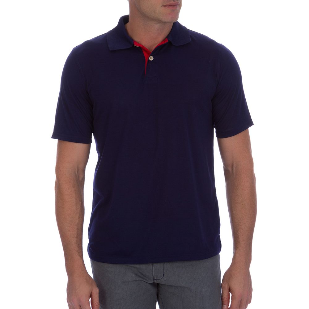 f2dec92695438 Camisa Polo Masculina Azul Marinho Detalhada - Camisaria Colombo