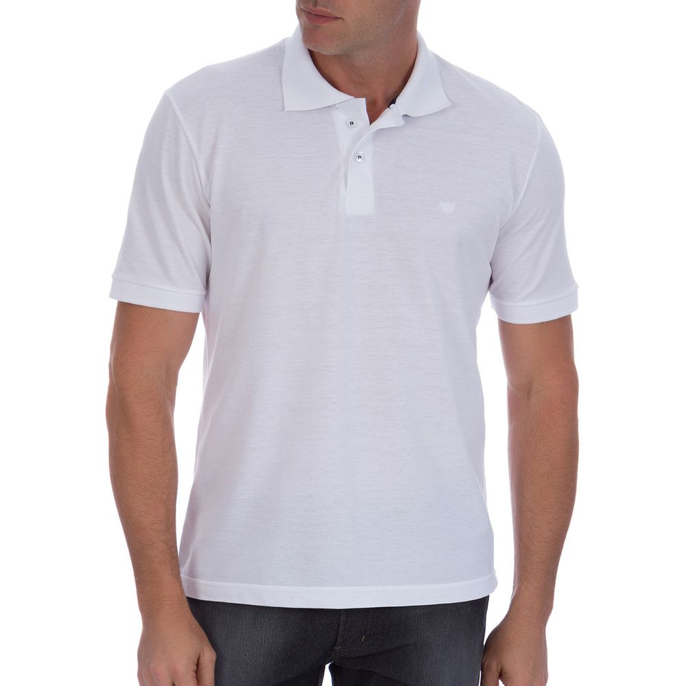 64fc9504c9 Camisa Polo Masculina Branca Lisa - Camisaria Colombo