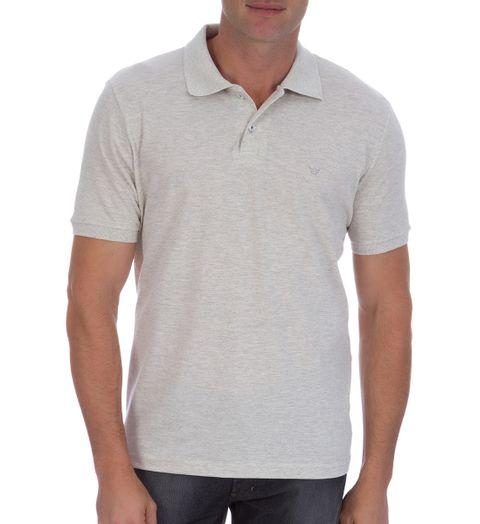 6bd3b848c9 Camisa Polo Masculina Cinza Lisa - Camisaria Colombo