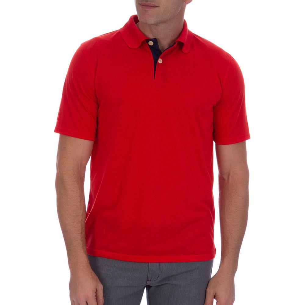 PRODUTO ADICIONADO A SACOLA. Camisa Polo Masculina Vermelha Lisa 441d1577d5d70