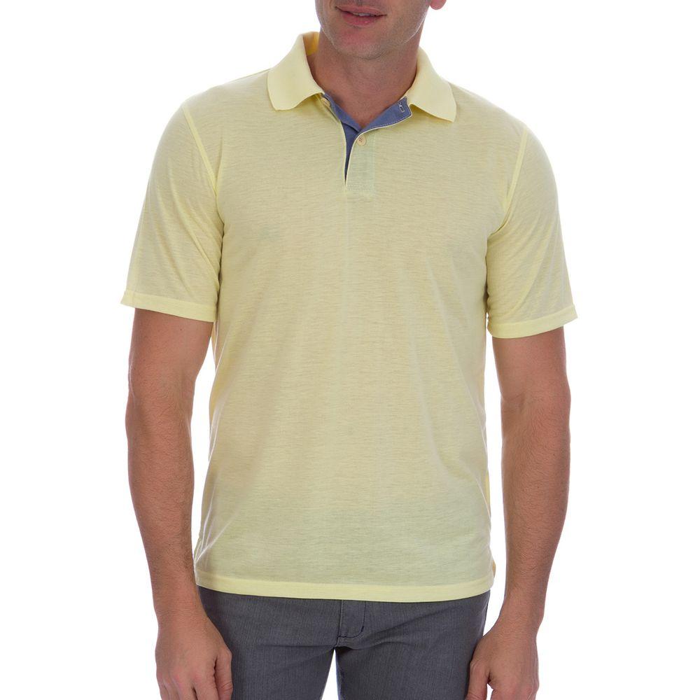 PRODUTO ADICIONADO A SACOLA. Camisa Polo Masculina Amarela com Detalhe 27e9bda6aeab3