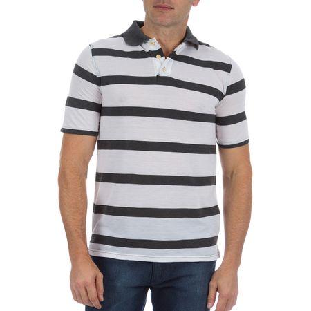 Camisa Polo Masculina Cinza Listrada