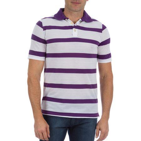 Camisa Polo Masculina Roxa Listrada
