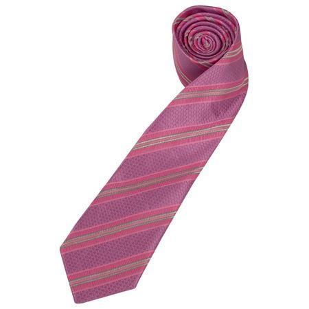 Gravata Masculina Rosa Listrada