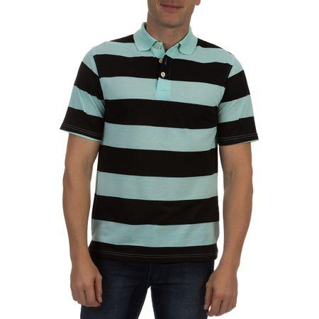 Camisa Polo Masculina Verde Claro Listrada