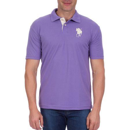 Camisa Polo Masculina Lilás Lisa
