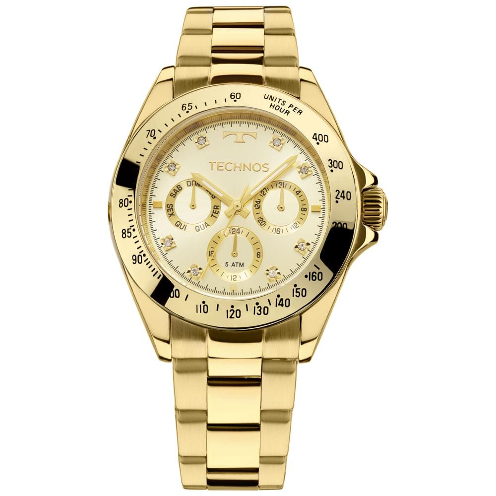 Relógio Technos Ladies Feminino Dourado 6P29AIT 4X - Camisaria Colombo 6e55fcccb7