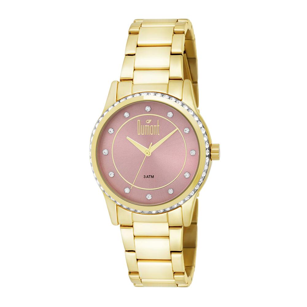 Relógio Dumont Feminino Splendore DU2035LQC 4T Dourado - Camisaria ... 1c2bd8fff2