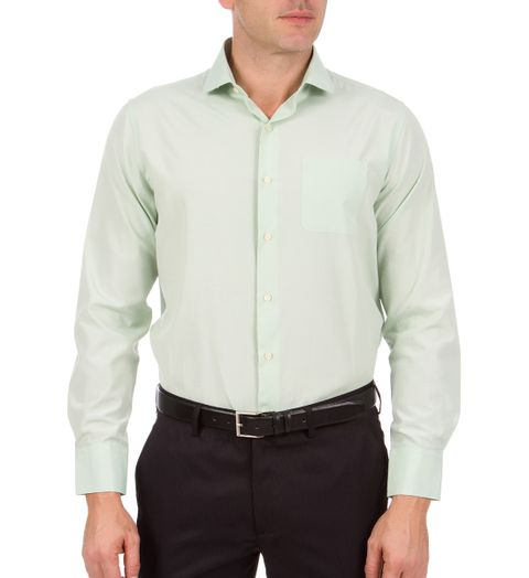 Camisa Social Masculina Verde Lisa 4b6ccd7a86863