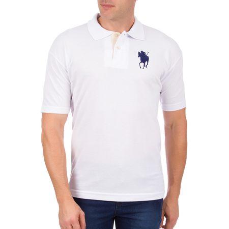 Camisa Polo Masculina Branca Bordada