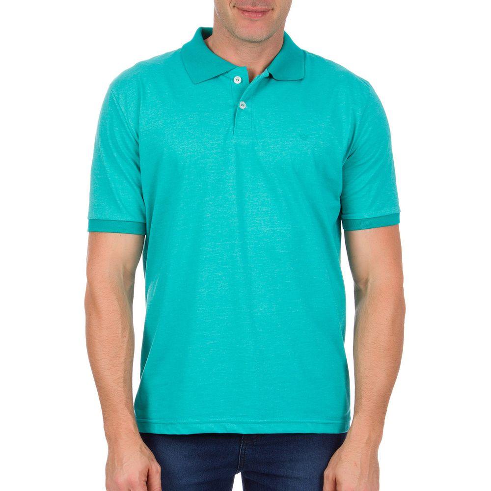 PRODUTO ADICIONADO A SACOLA. Camisa Polo Masculina Verde Lisa e54e03315a164