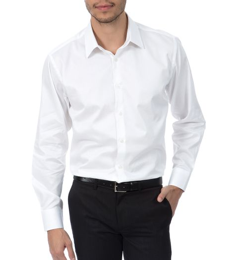 Camisa Social Masculina Upper Branca Lisa - Camisaria Colombo b93eaa0c44517