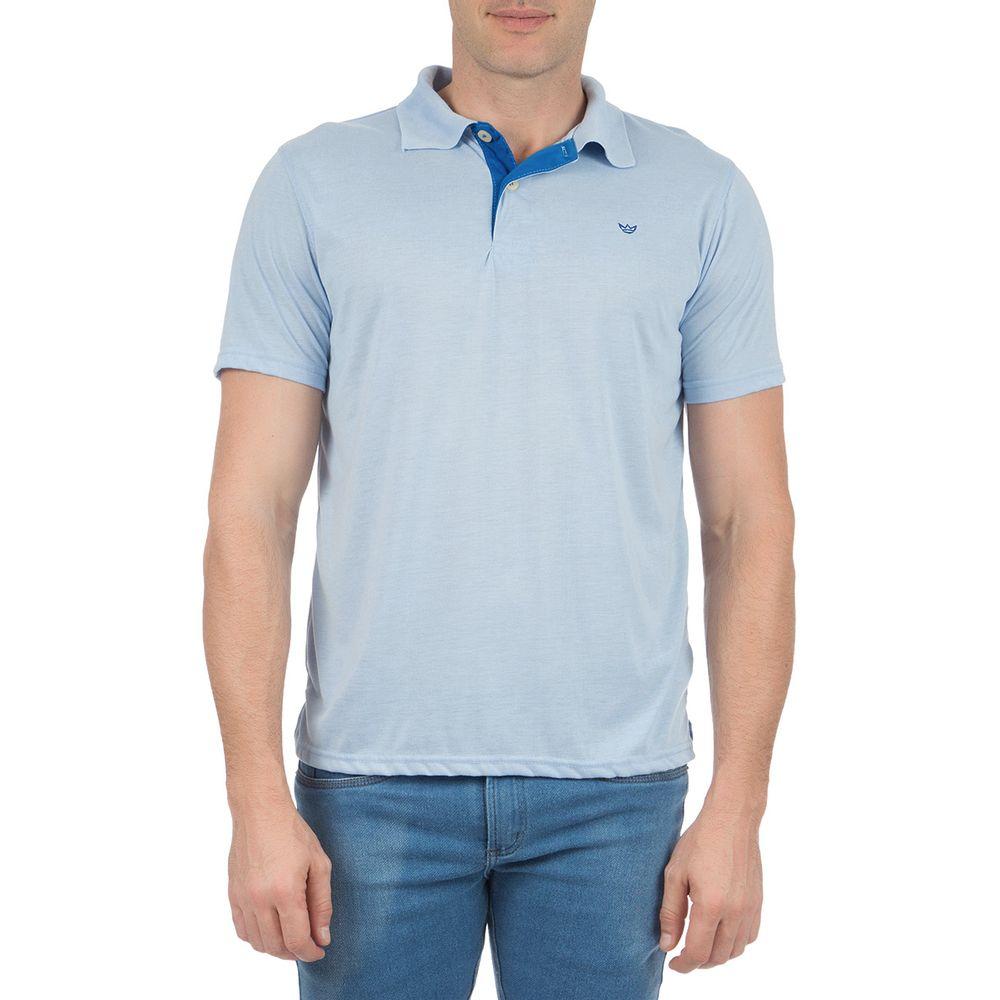 022da2cf27528 Camisa Polo Masculina Azul Detalhada - Camisaria Colombo