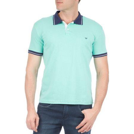 Camisa Polo Masculina Verde Lisa
