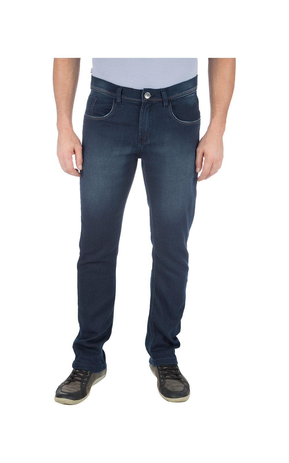 Foto 1 - Calça Jeans Masculina Azul Lisa
