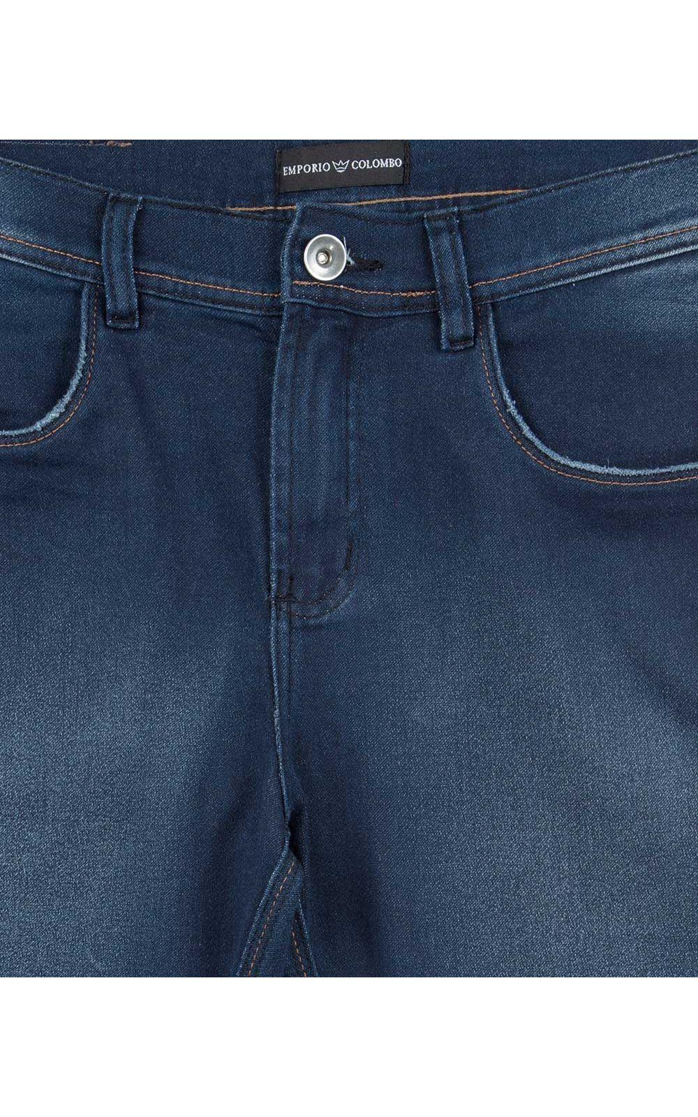 Foto 4 - Calça Jeans Masculina Azul Lisa