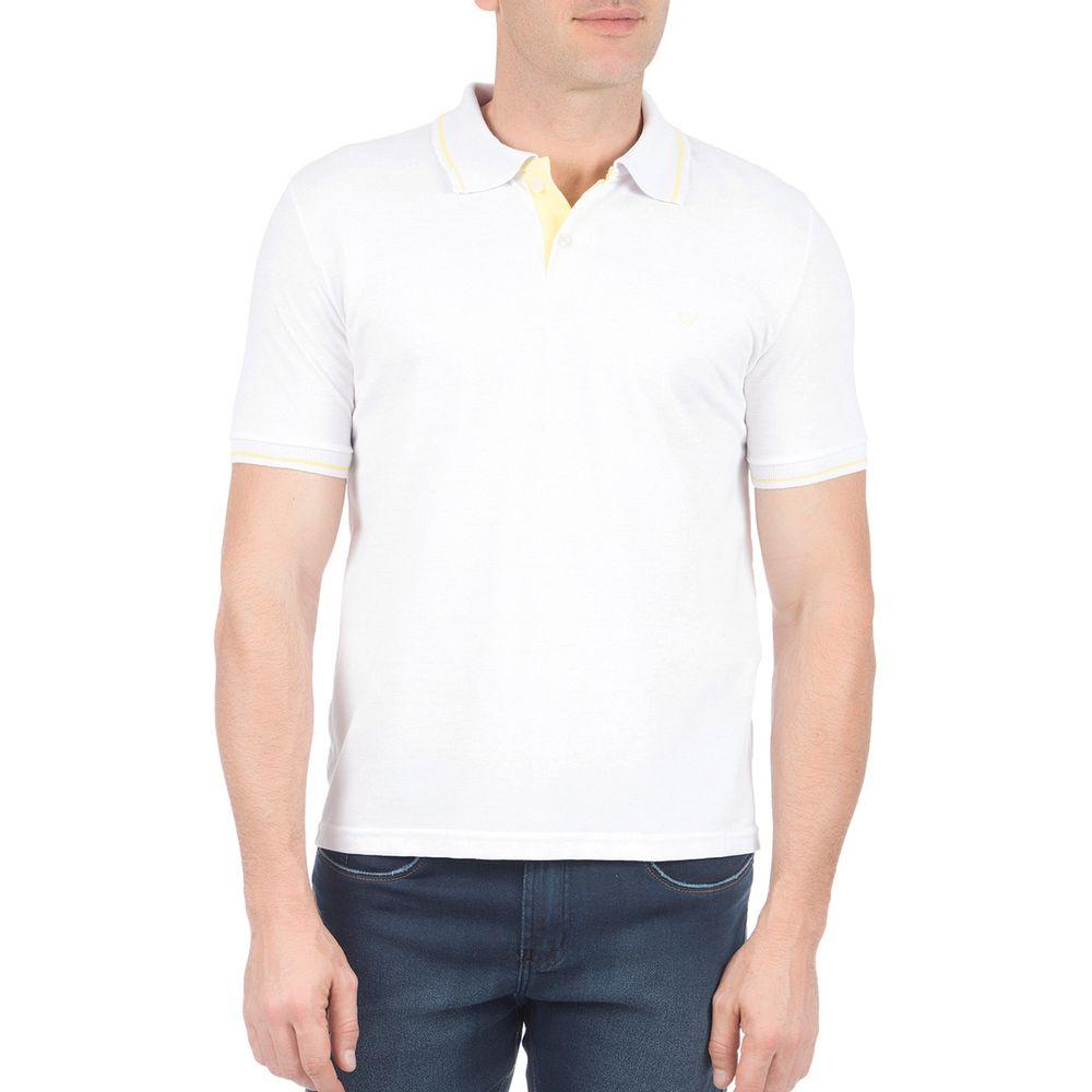 PRODUTO ADICIONADO A SACOLA. Camisa Polo Masculina com Detalhe Branca 408dfe62c3e56