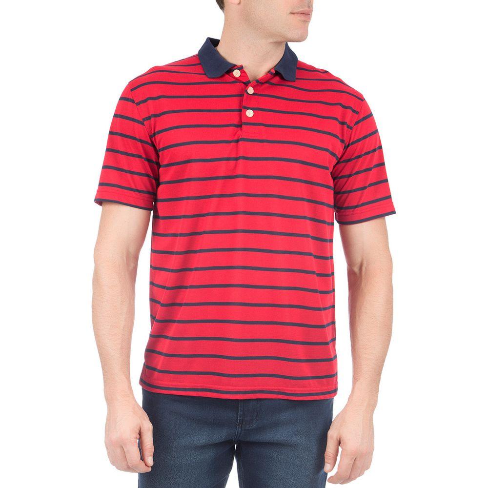 Camisa Polo Masculina Vermelha Listrada - Camisaria Colombo 2d160bd8bf12b