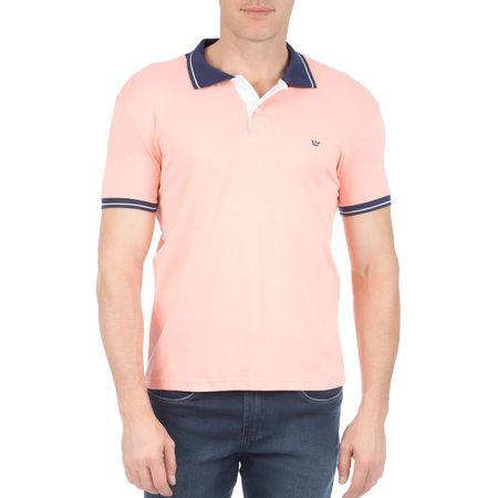 Camisa Polo Masculina Laranja com Detalhe