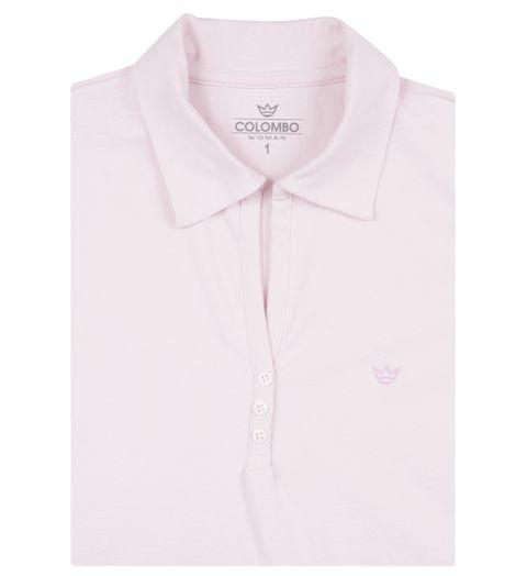 1a806102c0 Camisa Polo Feminina Rosa Lisa