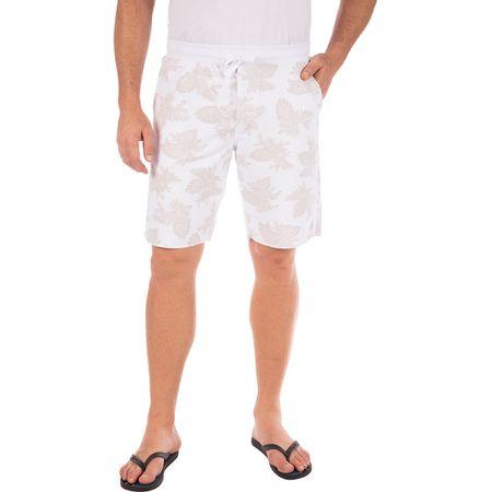 Bermuda Masculina Branca Estampada