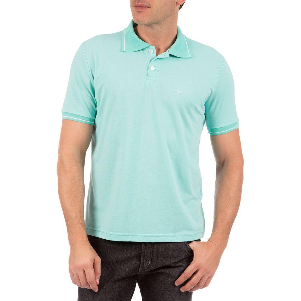 PRODUTO ADICIONADO A SACOLA. Camisa Polo Com Detalhe Masculina Verde cadeda90814e4