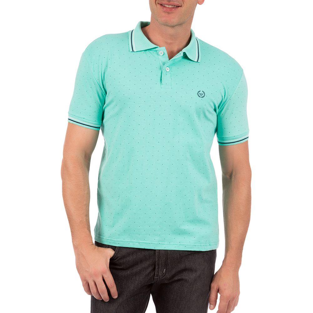 PRODUTO ADICIONADO A SACOLA. Camisa Polo Masculina Verde Estampada 82d2428ab312a