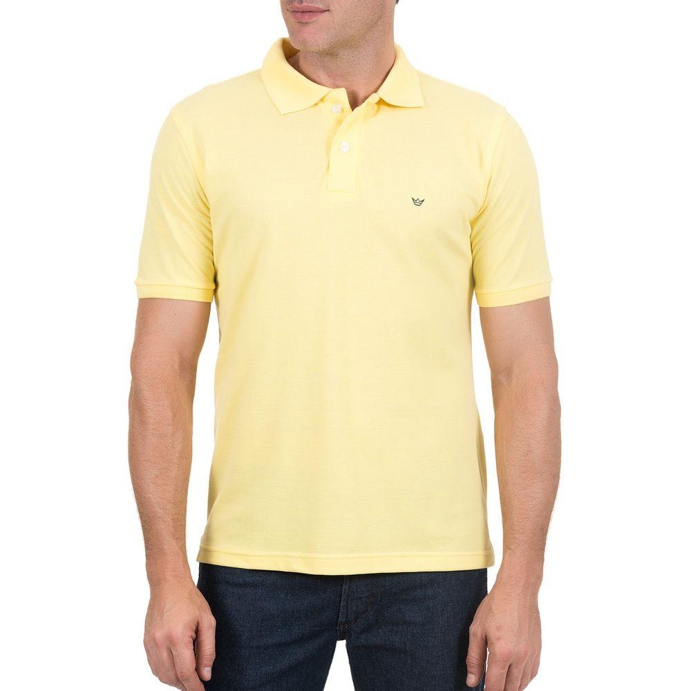 75314ae6429d5 Camisa Polo Masculina Amarela Lisa - Camisaria Colombo
