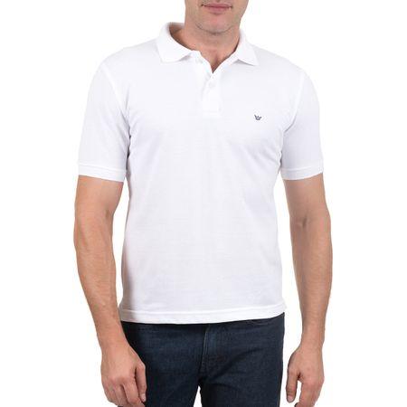 Camisa Polo Masculina Branca Lisa