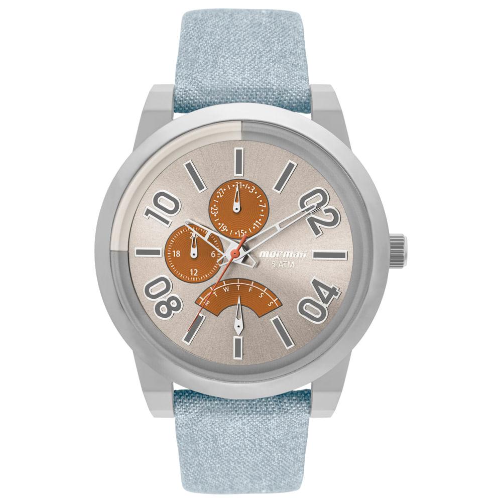 6a945b95ad314 Relógio Mormaii Masculino On The Road Urban Prata - MOJR10AC 2L ...