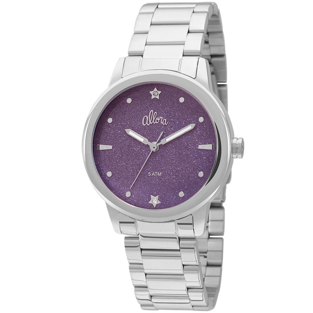 Kit Relógio Allora Coleção Celeste Prata - AL2036CR K3G - Camisaria ... 22e77357b5