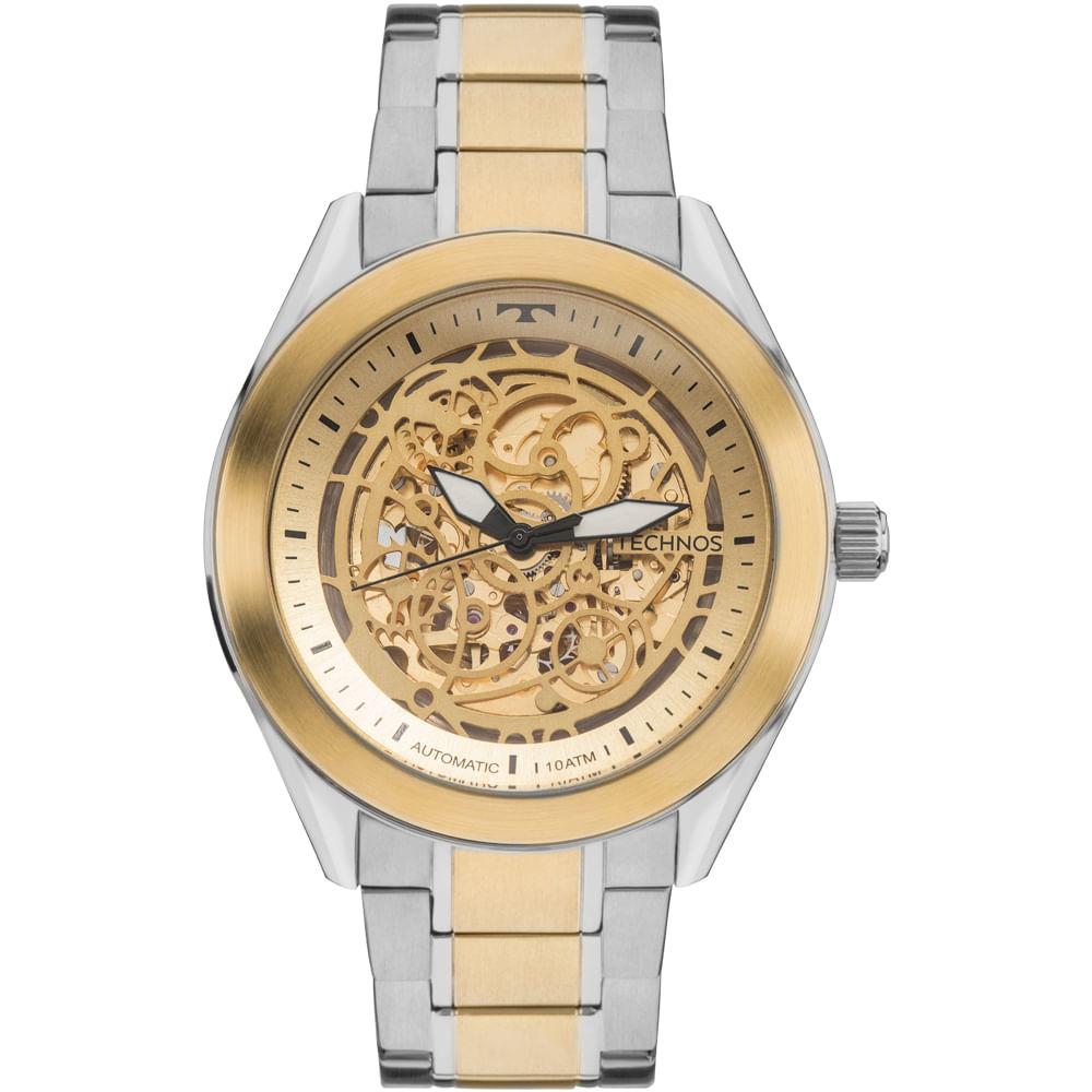 Relógio Technos Masculino Automatic 8N24AJ 4X - Dourado, Prata ... af4ef66ae9