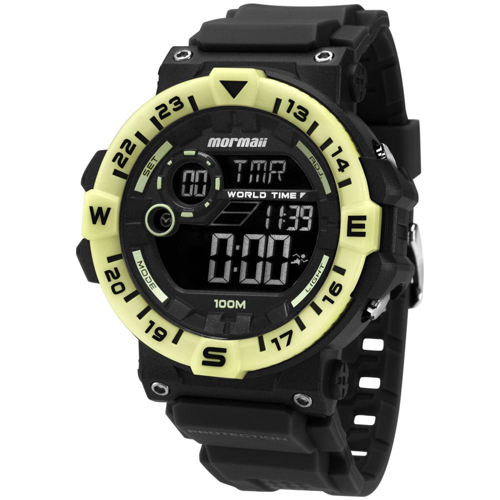 Relógio Mormaii Acqua MOM1131B 8P Preto - Camisaria Colombo ab110503f1